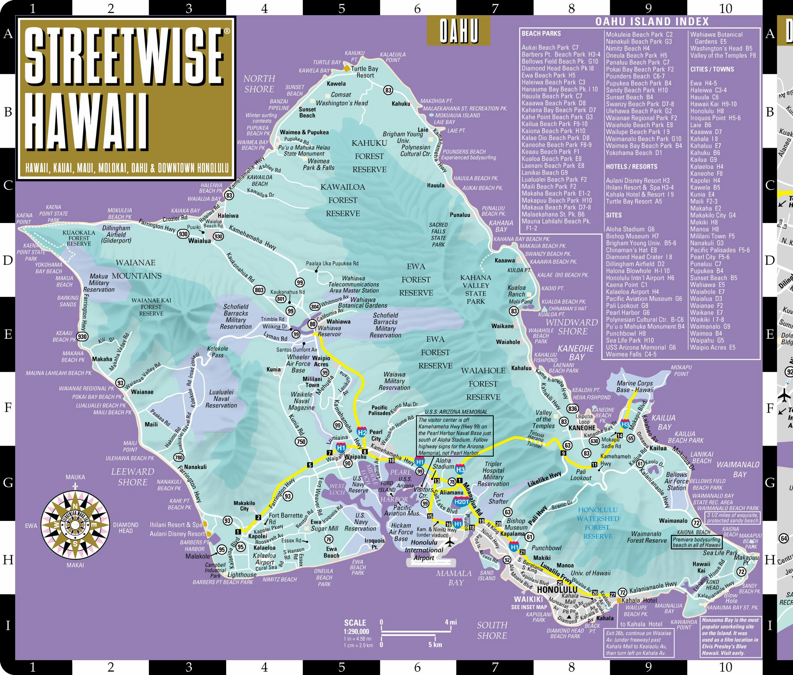 Large Oahu Island Maps For Free Download And Print | High-Resolution - Printable Map Of Kauai