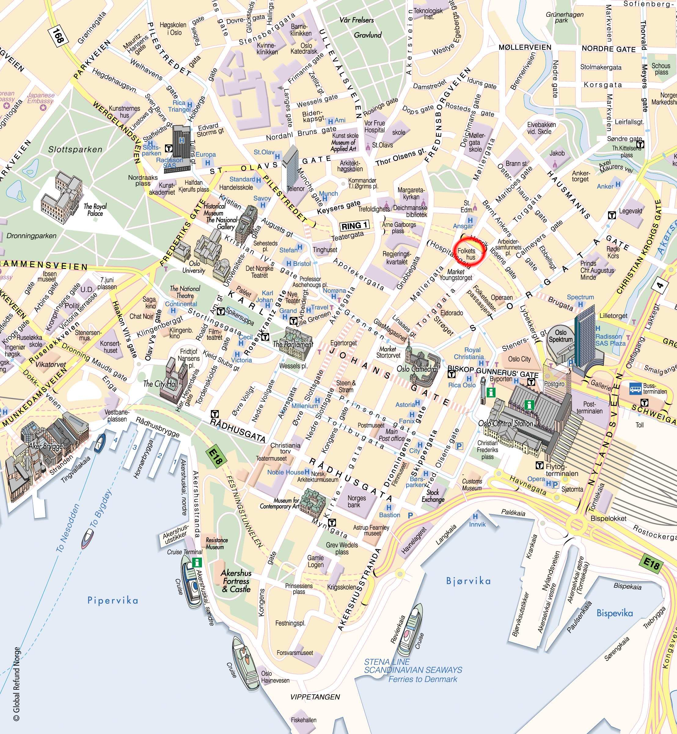 Large Oslo Maps For Free Download And Print | High-Resolution And - Printable Map Of Oslo Norway