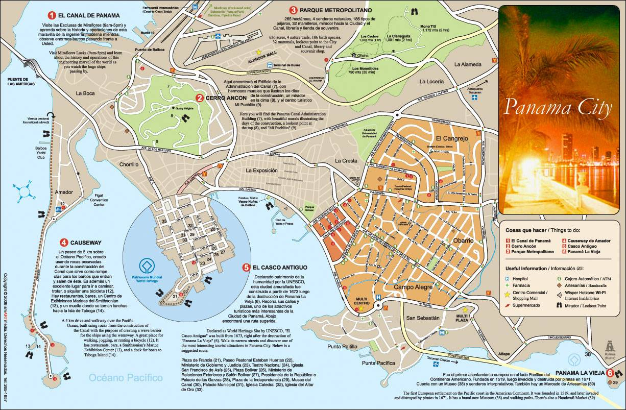 Large Panama City Maps For Free Download And Print   High-Resolution - Map Of Panama City Florida And Surrounding Towns