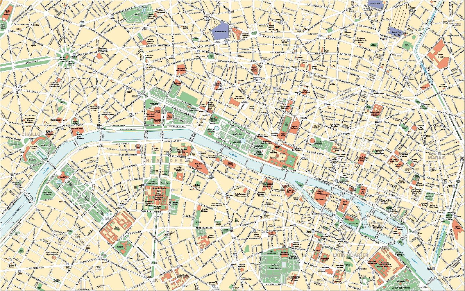 Large Paris Maps For Free Download And Print   High-Resolution And - Printable Map Of Paris City Centre