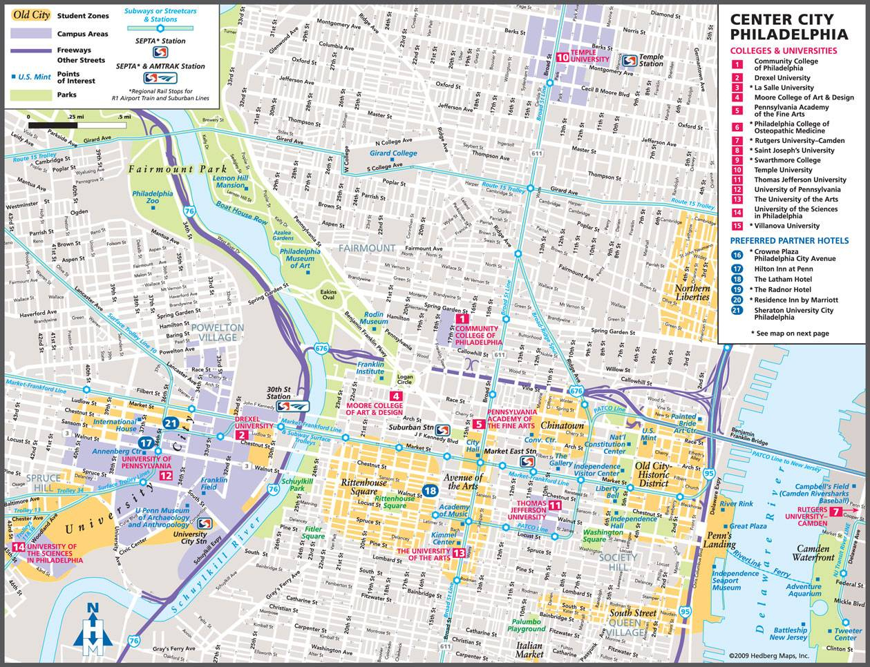 Large Philadelphia Maps For Free Download And Print | High - Philadelphia Street Map Printable