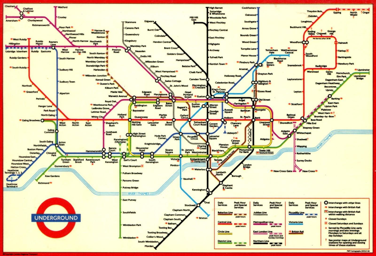 Large Print Tube Map Pleasing London Underground Printable With And - Printable London Underground Map