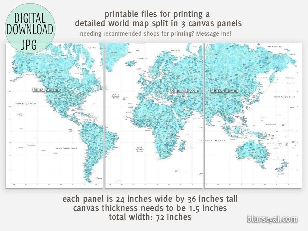 Large Printable World Map | Printable Map In Printable World Map - Large Printable World Map