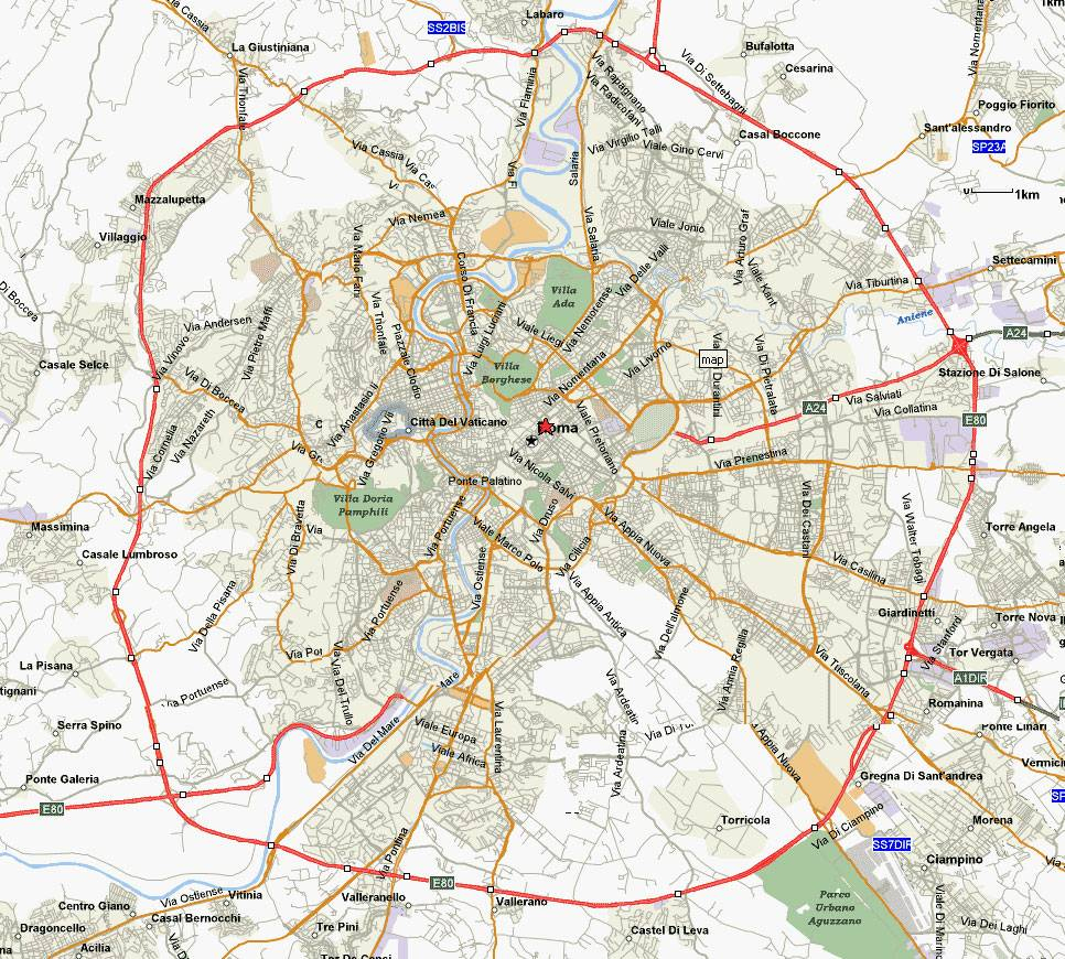 Large Rome Maps For Free Download And Print | High-Resolution And - Printable City Map Of Rome Italy