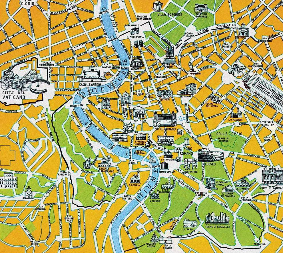 Large Rome Maps For Free Download And Print | High-Resolution And - Printable Walking Map Of Rome