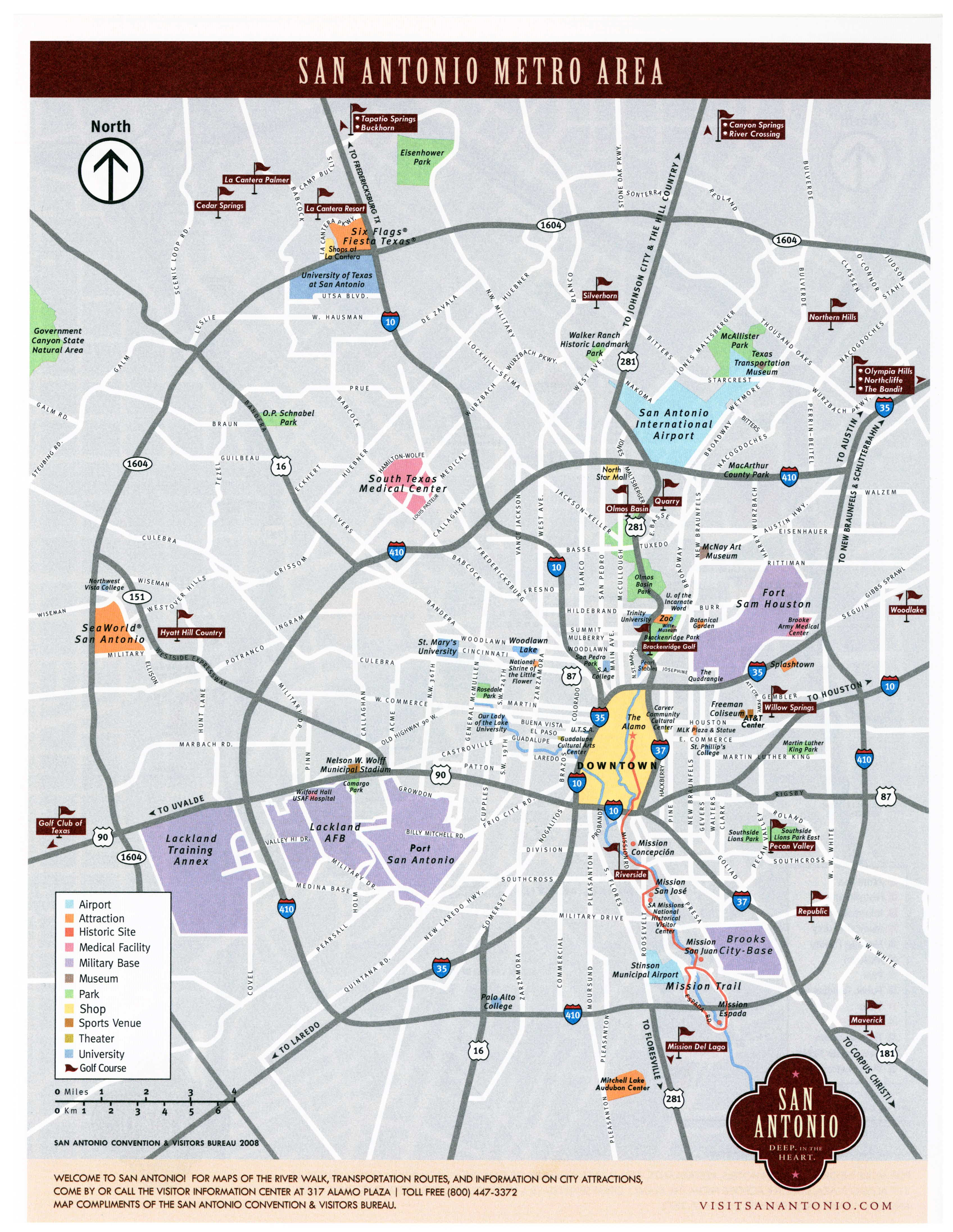 Large San Antonio Maps For Free Download And Print | High-Resolution - Map Of Hotels In San Antonio Texas
