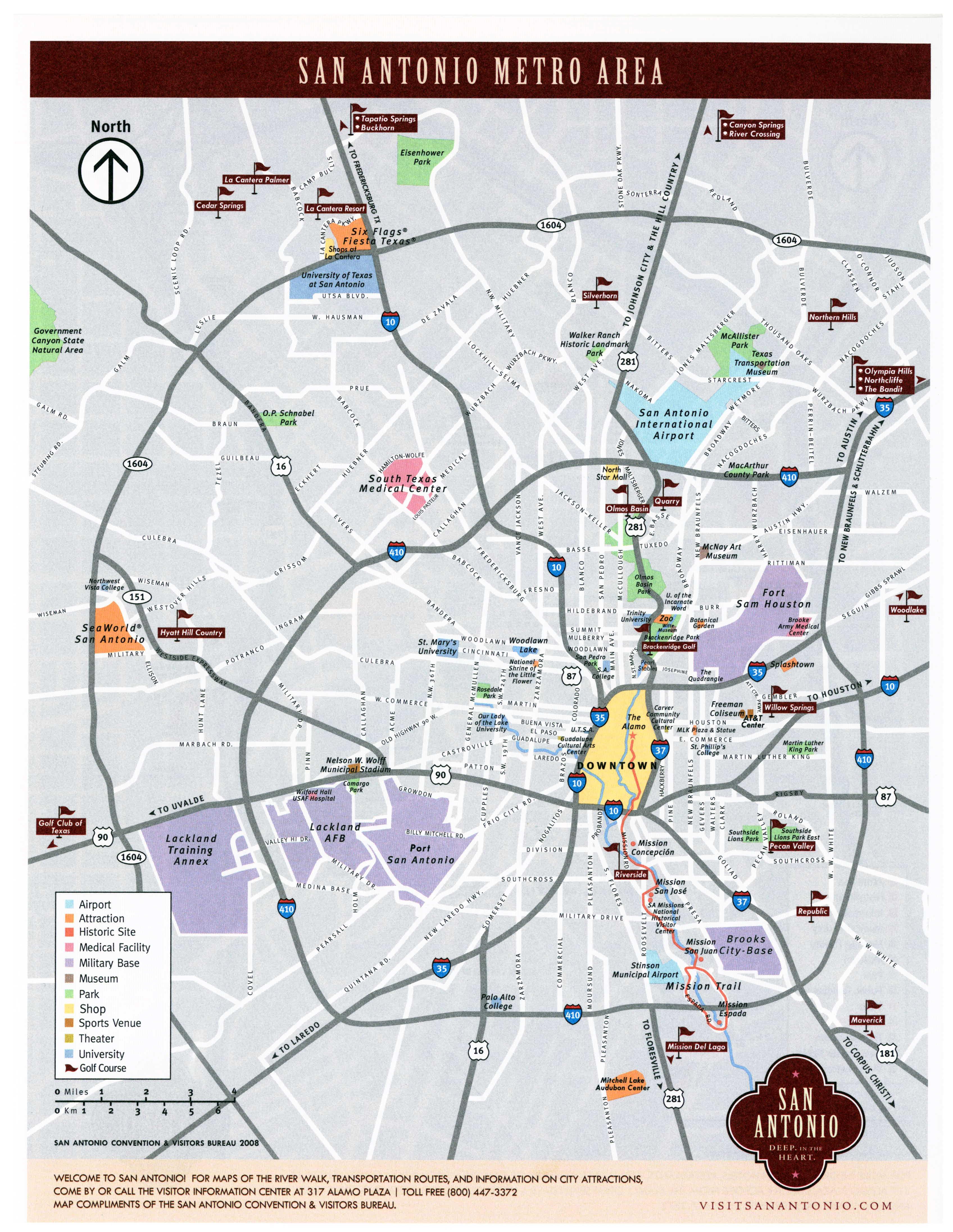 Large San Antonio Maps For Free Download And Print | High-Resolution - Seaworld San Antonio Printable Map