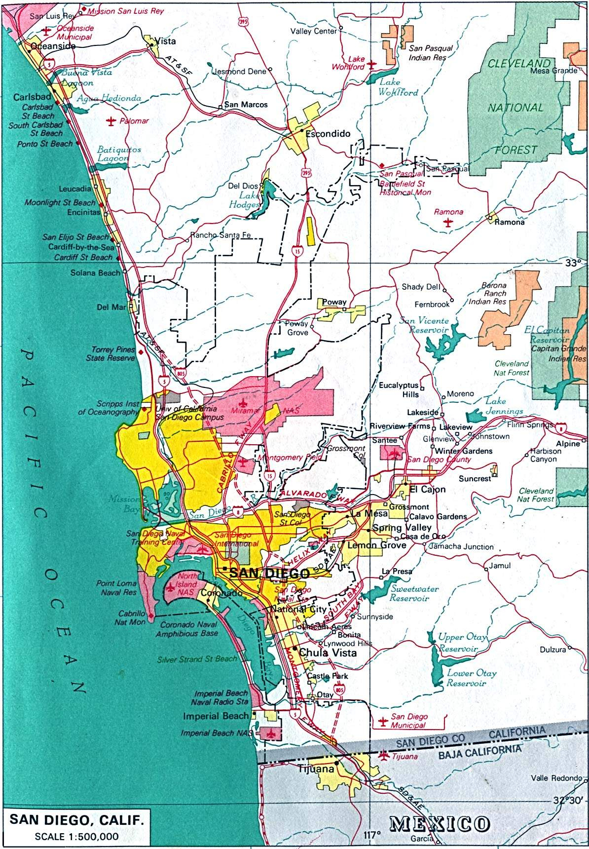 Large San Diego Maps For Free Download And Print   High-Resolution - Detailed Map Of San Diego California