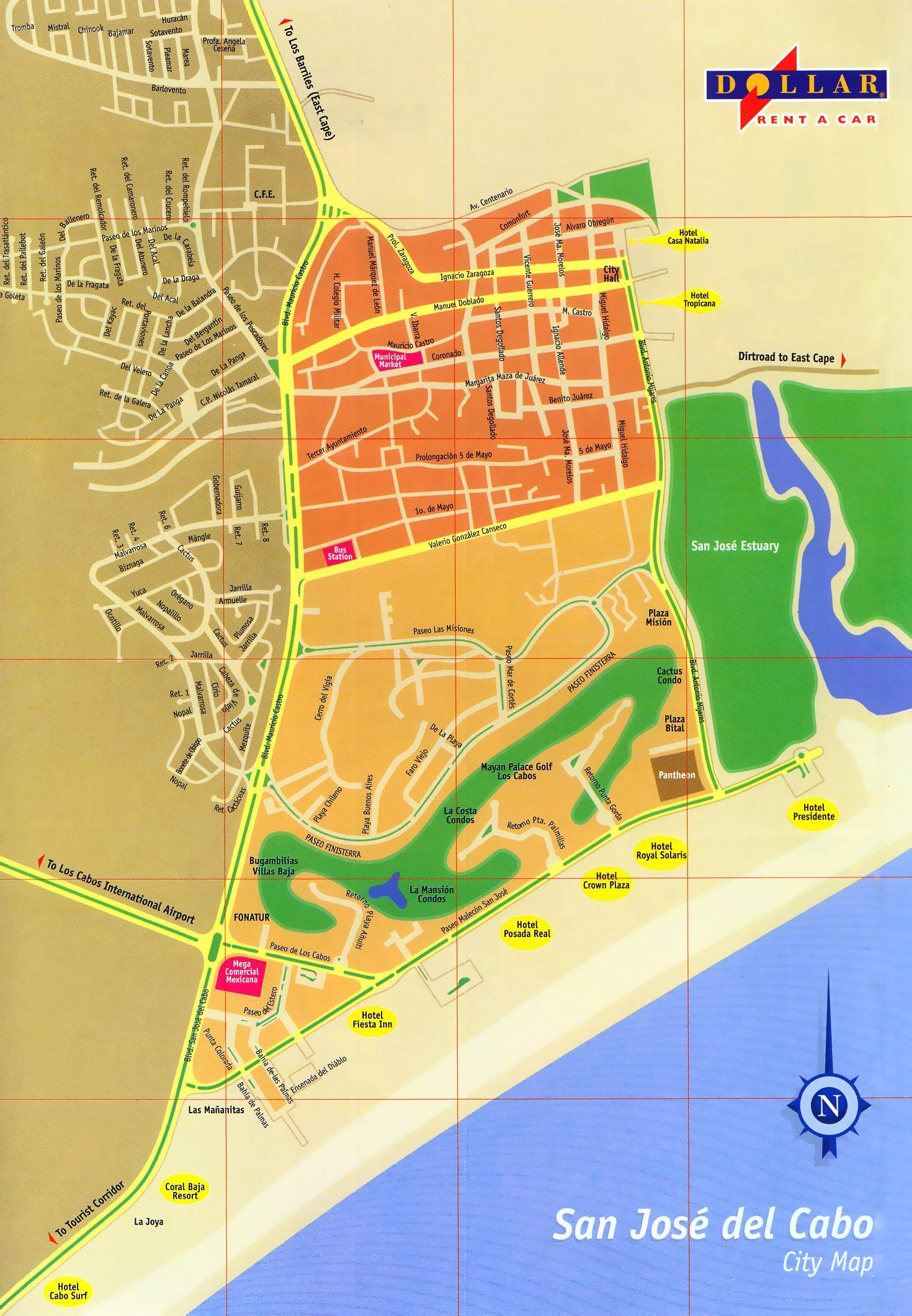 Large San Jose Del Cabo Maps For Free Download And Print | High - Printable Map Of San Jose
