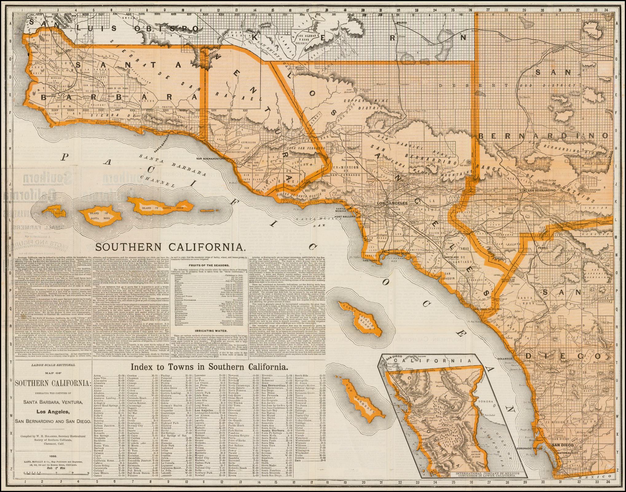 Large Scale Sectional Map Of Southern California: Embracing The - Large Map Of Southern California