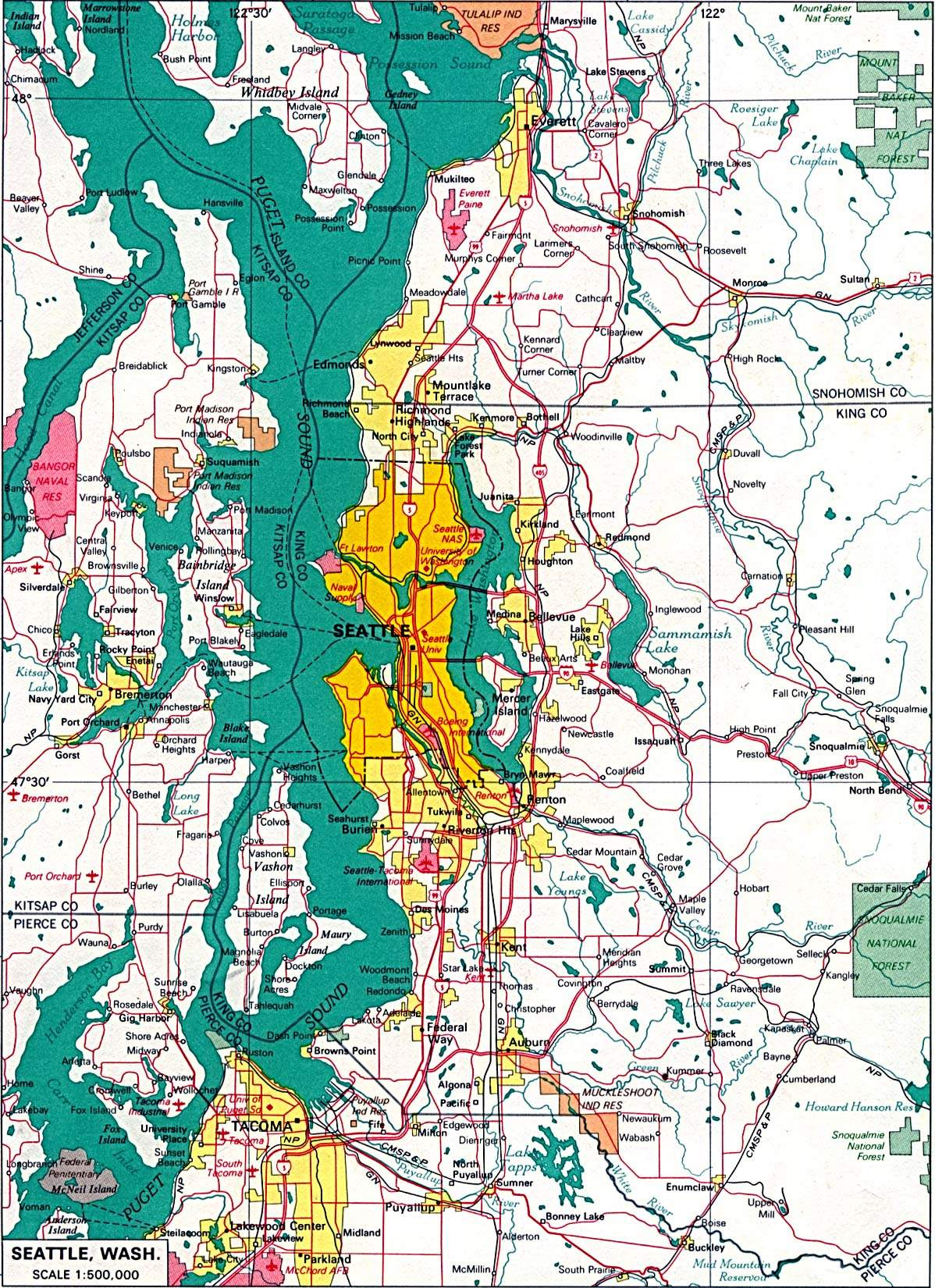 Large Seattle Maps For Free Download And Print | High-Resolution And - Printable Map Of Downtown Seattle