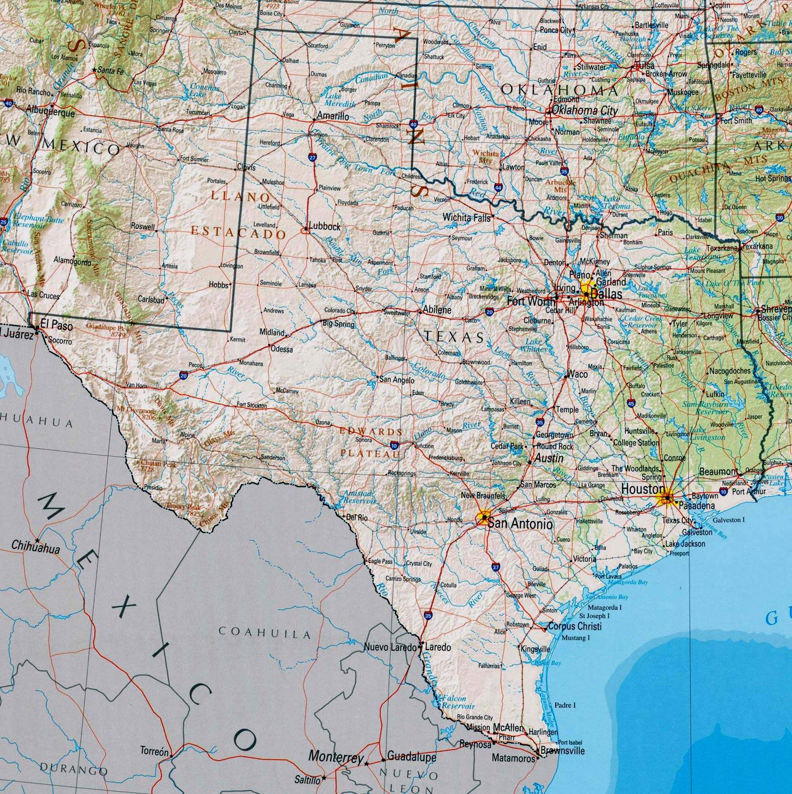 Large Texas Maps For Free Download And Print | High-Resolution And - Google Maps Dallas Texas Usa