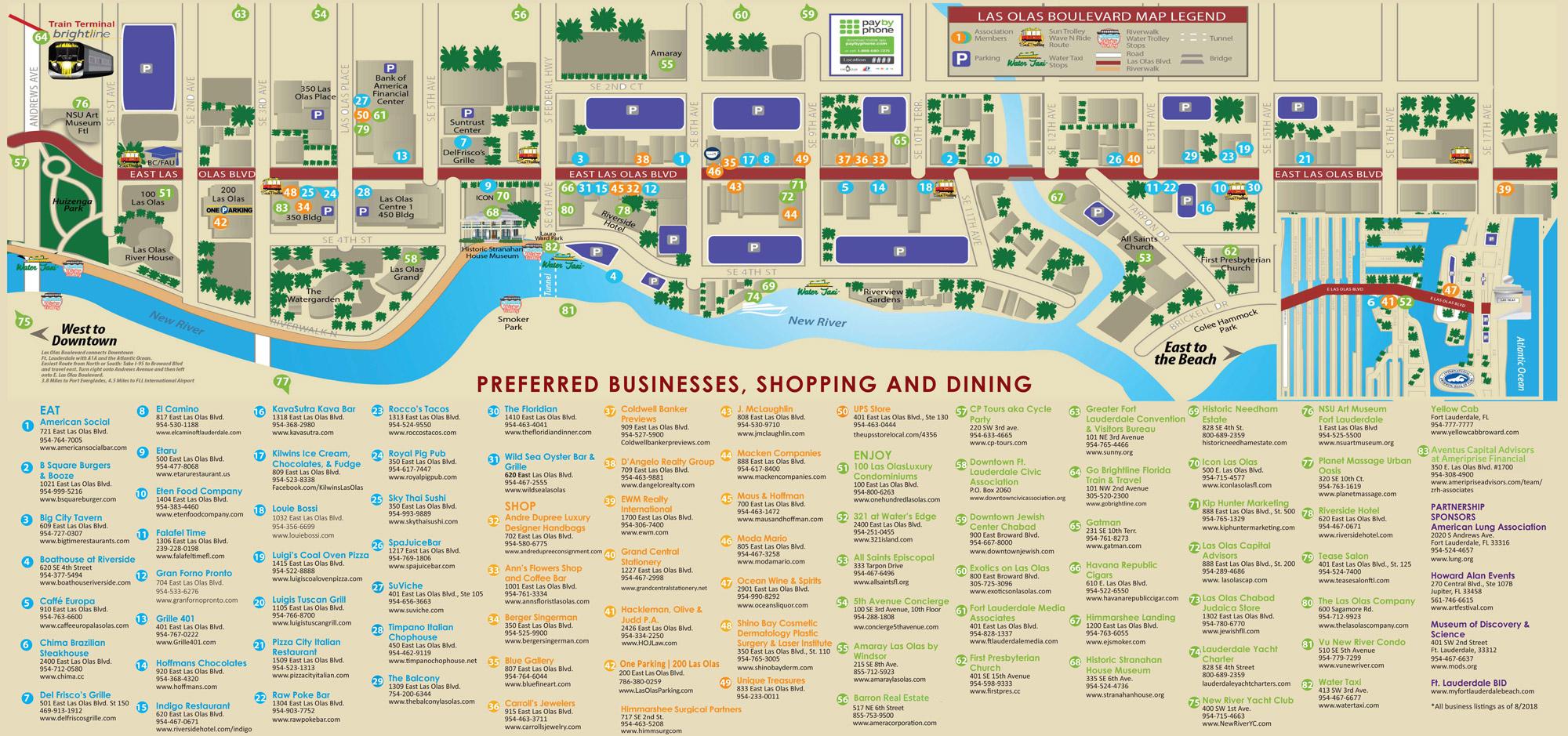 Las Olas Boulevard Fort Lauderdale   Restaurants, Shops & Things To Do - Street Map Of Fort Lauderdale Florida