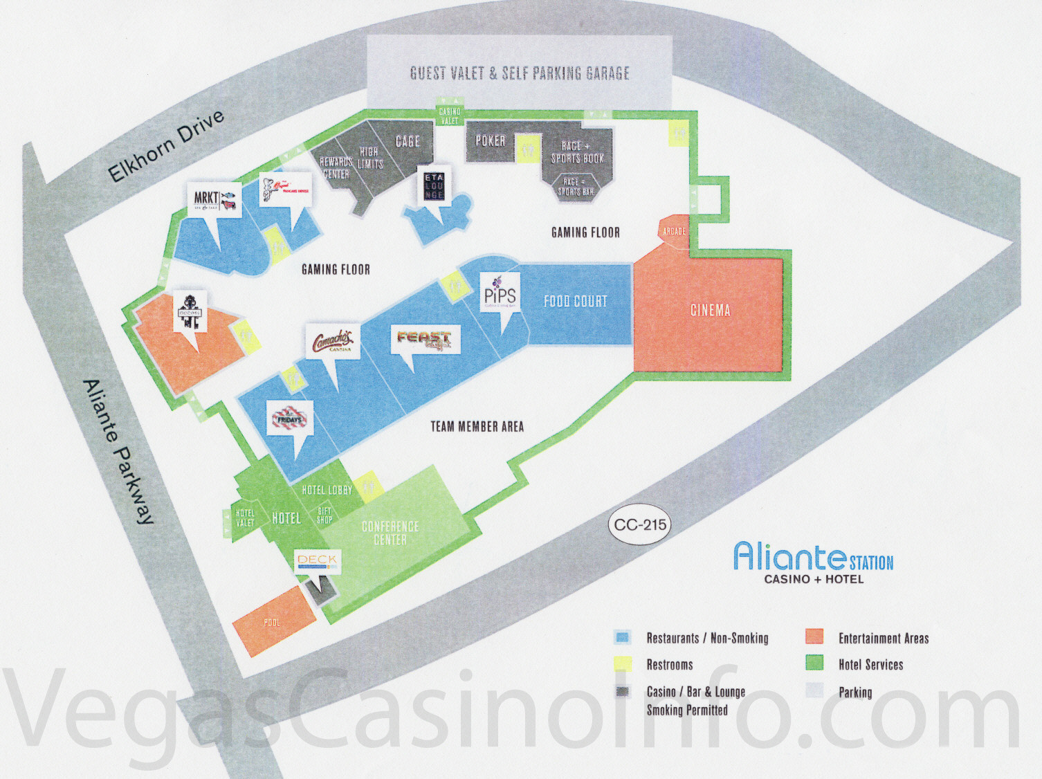 Las Vegas Casino Property Maps And Floor Plans | Vegascasinoinfo - Casinos In Texas Map