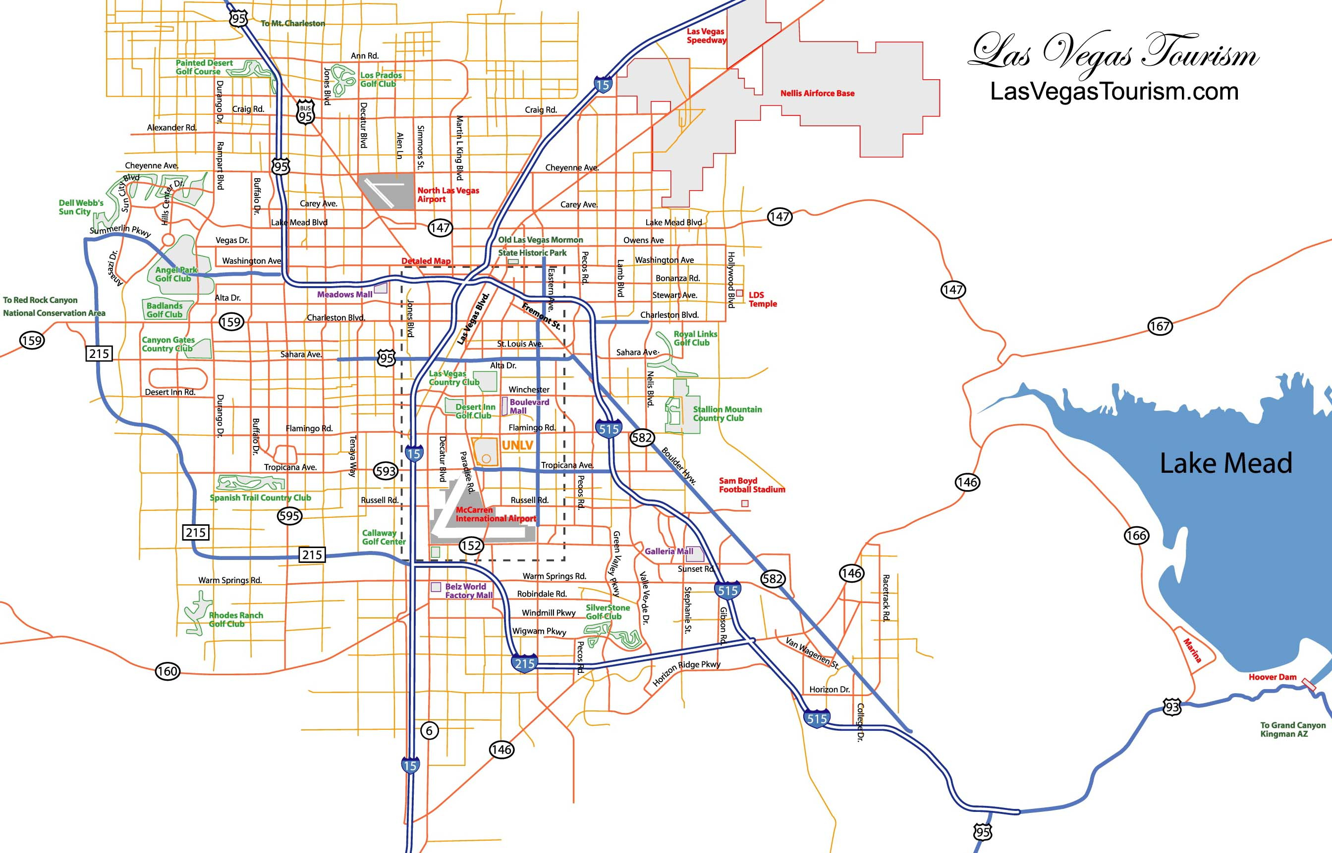 Las Vegas Map, Official Site - Las Vegas City Map - Las Vegas Printable Map