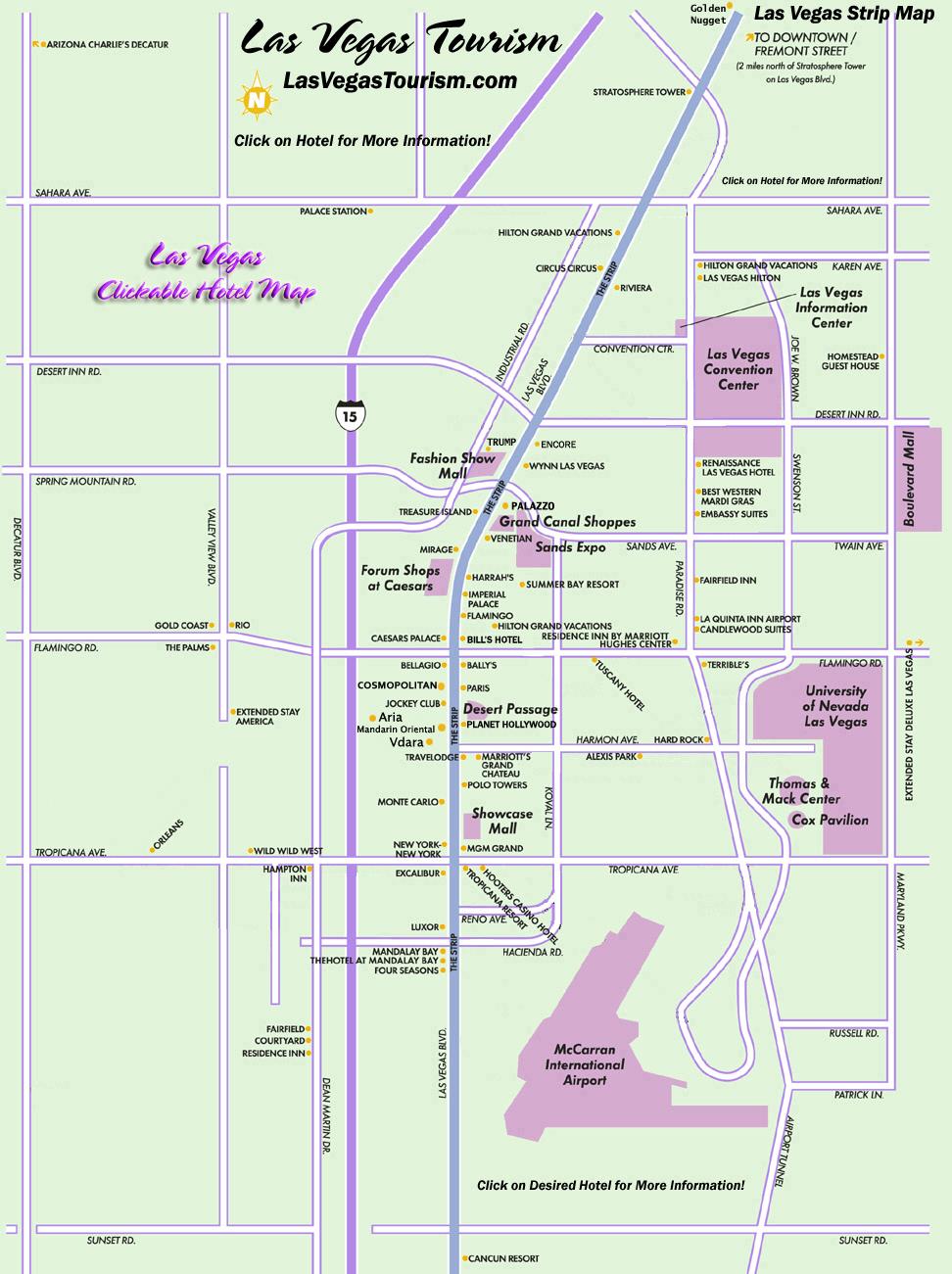 Las Vegas Map, Official Site - Las Vegas Strip Map - Printable Las Vegas Street Maps