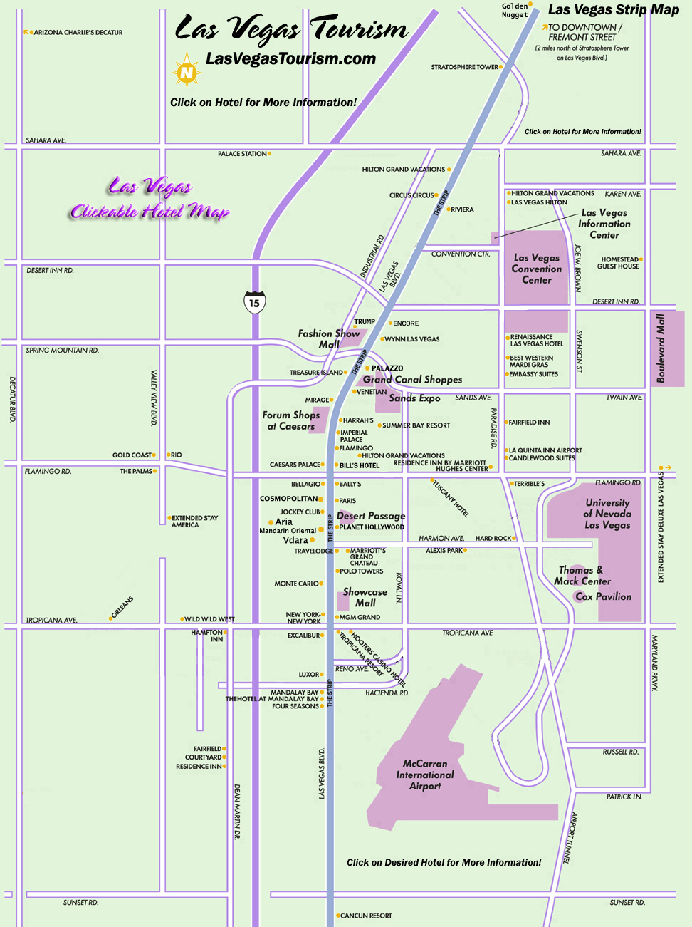 Las Vegas Map, Official Site - Las Vegas Strip Map - Printable Map Of Las Vegas Strip 2018