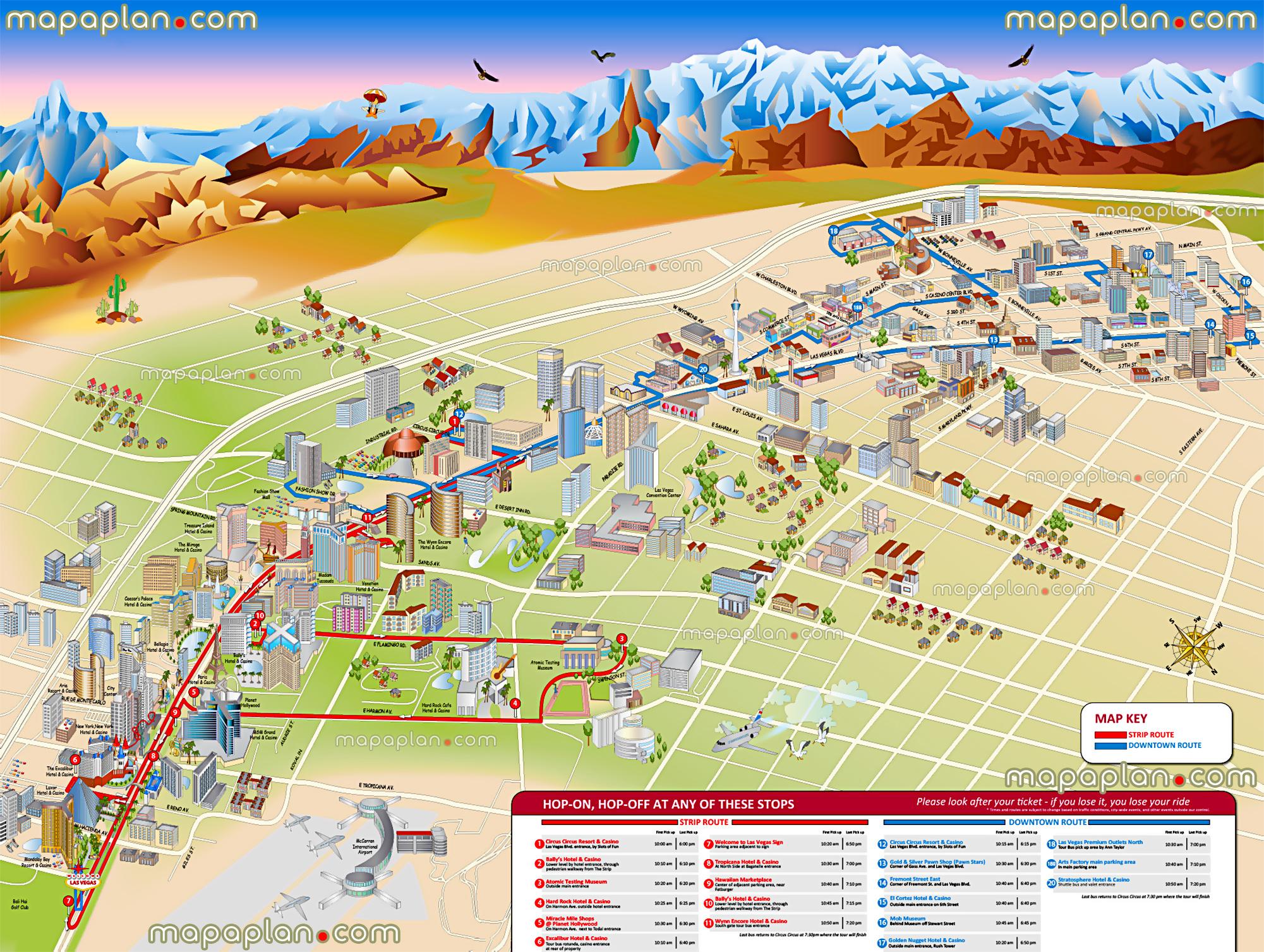 Las Vegas Maps - Top Tourist Attractions - Free, Printable City - Printable Las Vegas Street Maps