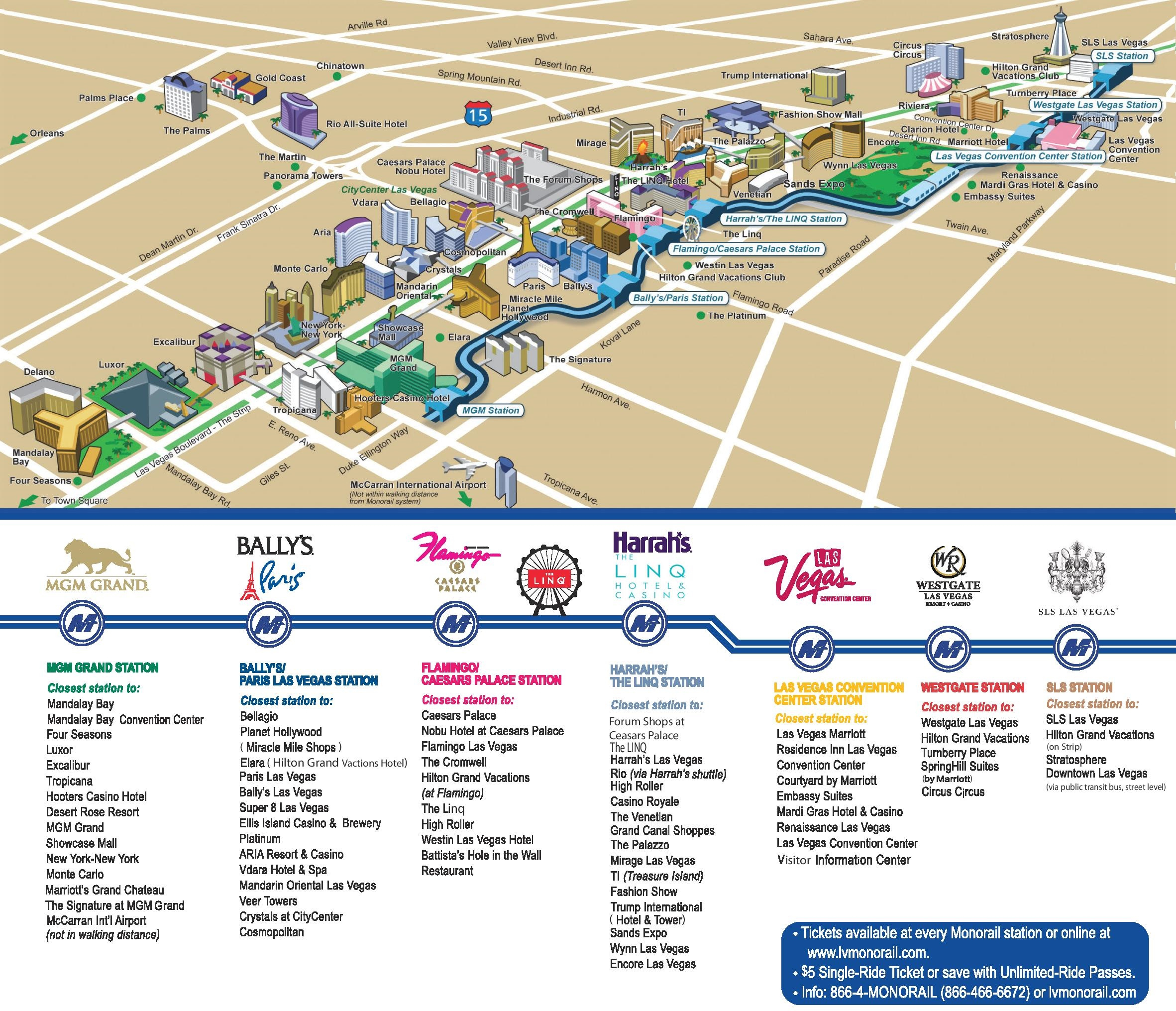 Las Vegas Strip Hotels And Casinos Map - Printable Map Of Vegas Strip