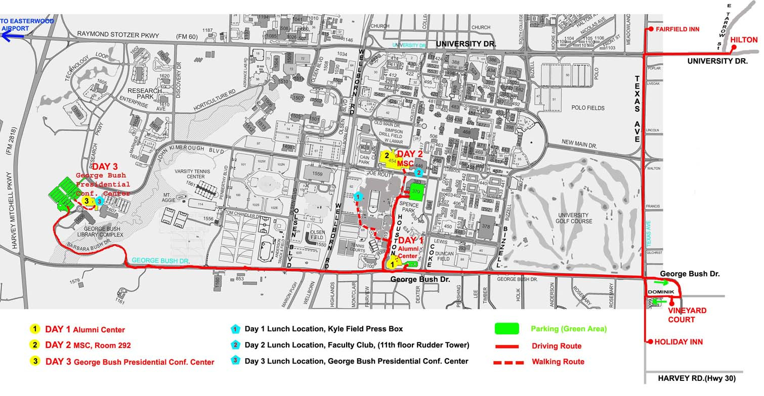 Lcpc'03: Maps & Driving Directions - Texas A&m Parking Lot Map