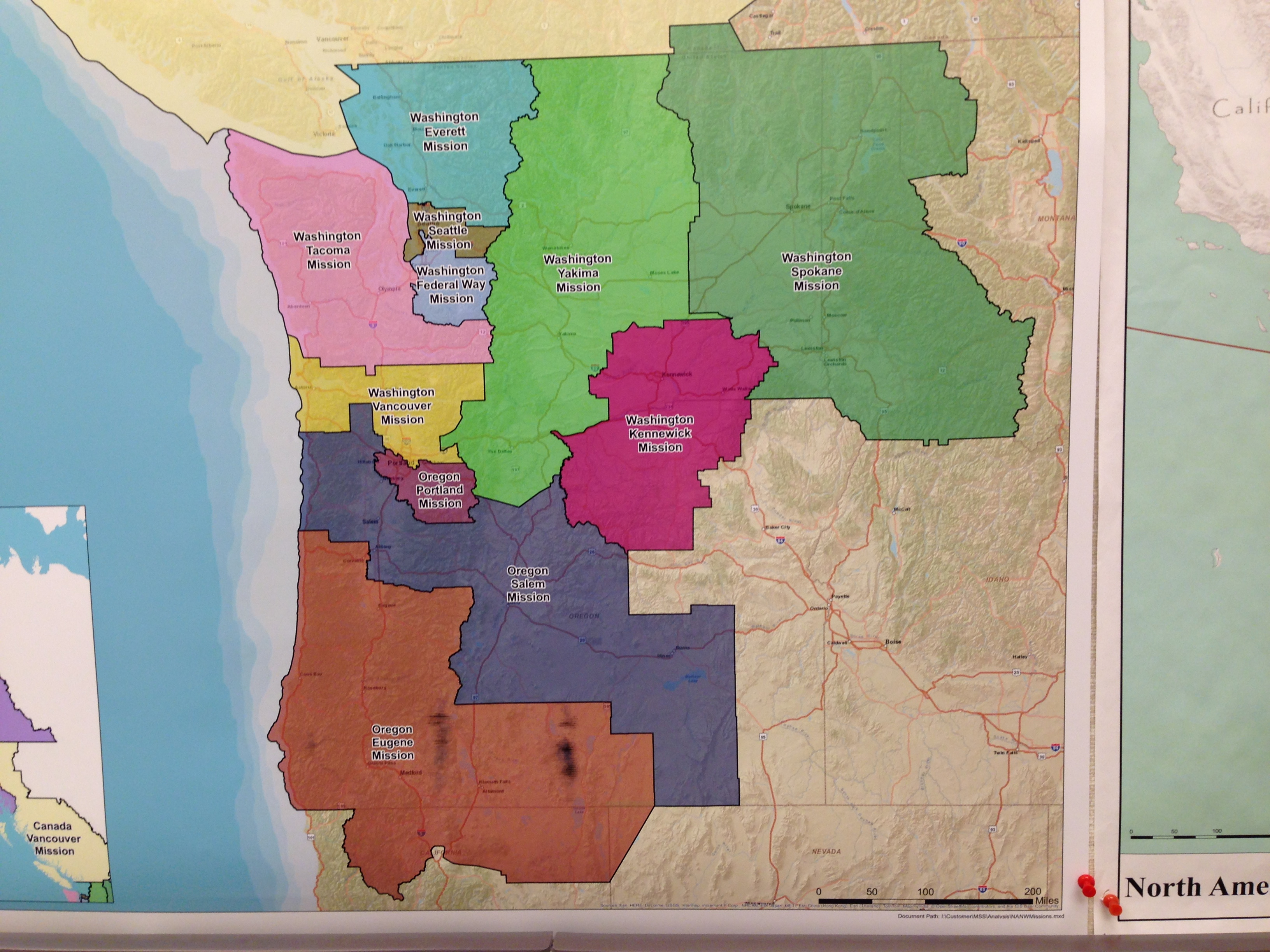 Lds Missions In Washington And Our Mission Home | Ann's Words - California Lds Missions Map