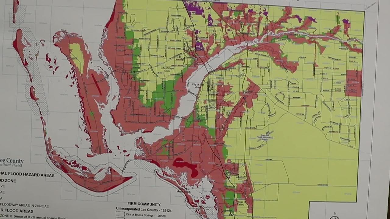 Lee County Residents Start Preparing For Hurricane Irma - Flood Insurance Rate Map Cape Coral Florida