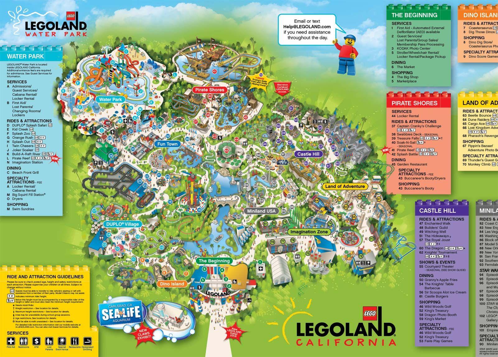 Legoland California Map | Disneyland! | Pinterest | Legoland - Legoland Map California Pdf
