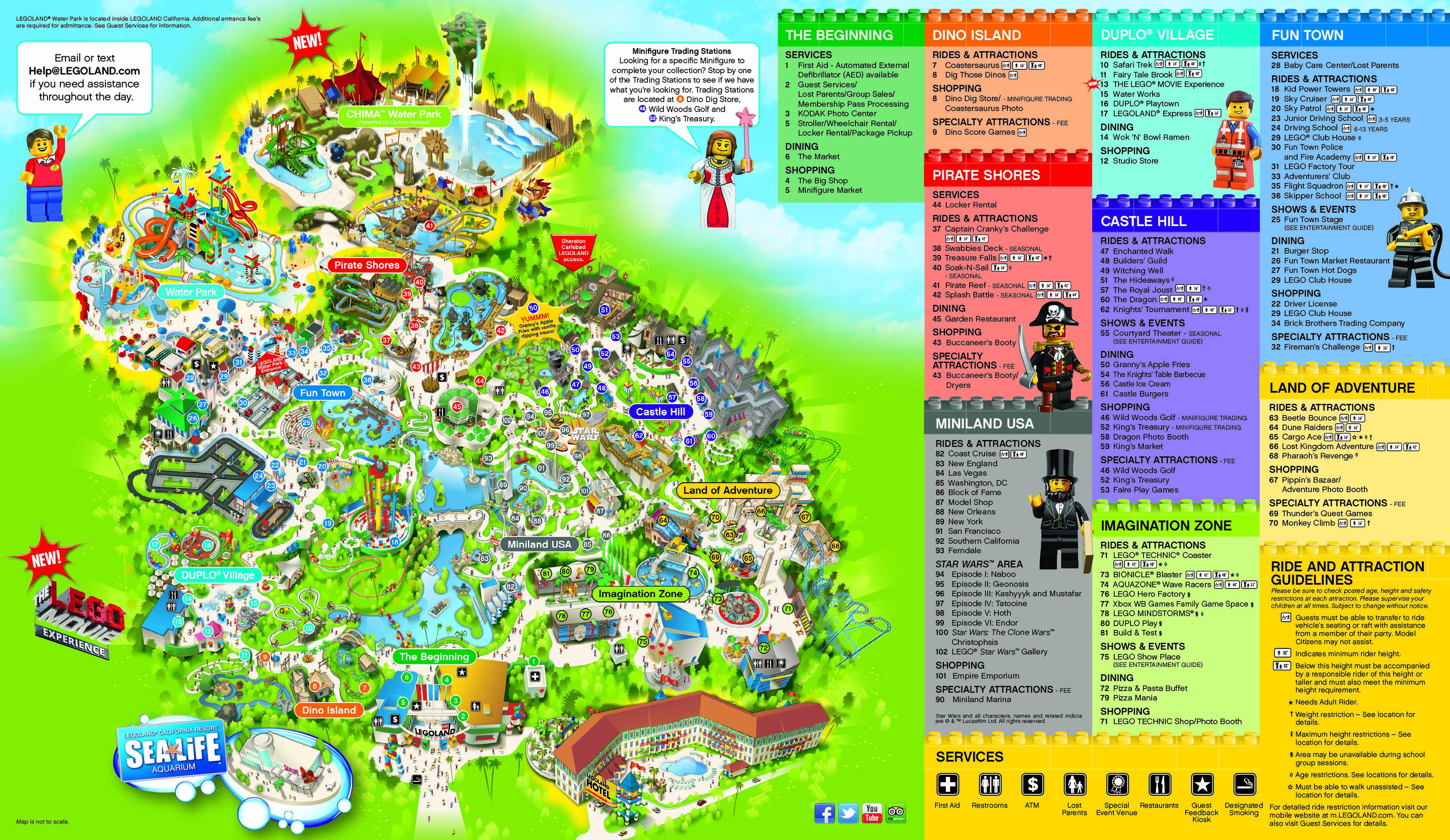 Legoland California Park Map - Klipy - Legoland California Water Park Map