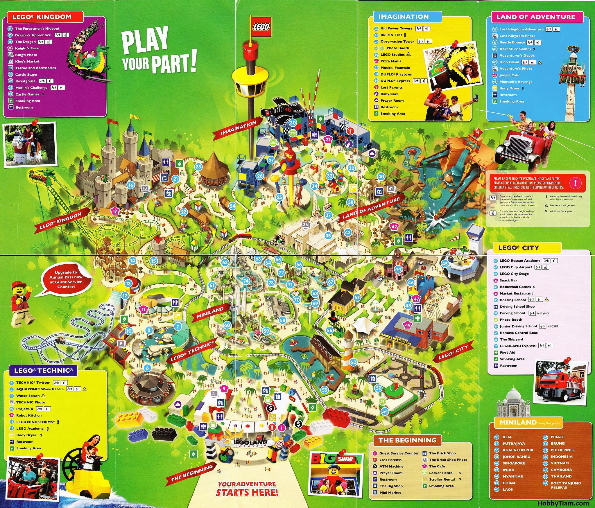 Legoland California Park Map Map Hd California Amusement Parks Map - Legoland Map California Pdf