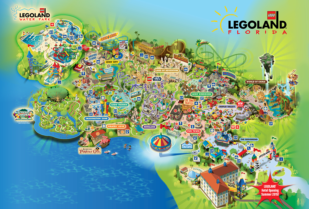 Legoland® Florida Is A 150-Acre Interactive Theme Park With More - Legoland Map Florida