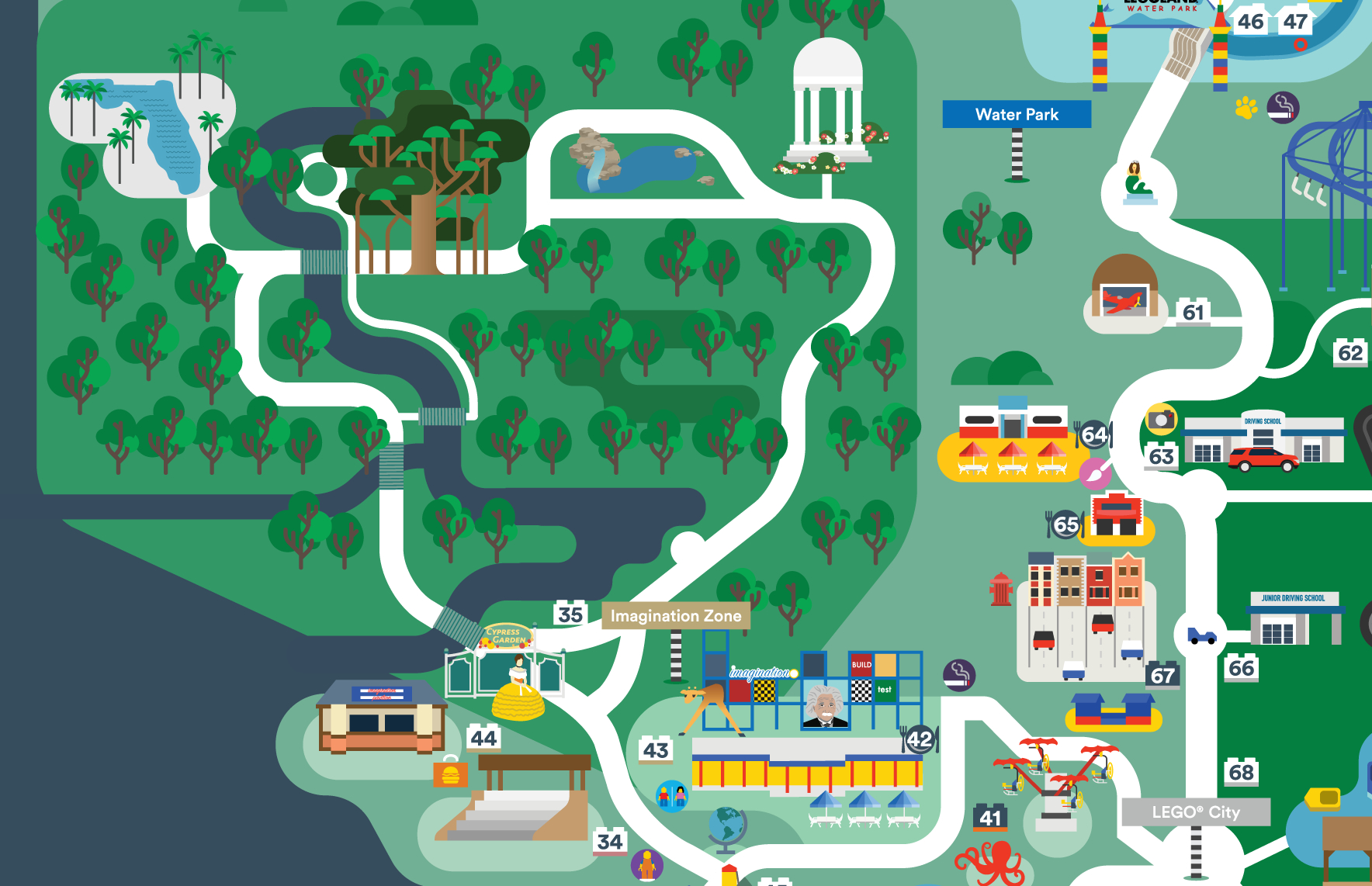 Legoland Florida Map 2016 On Behance - Legoland Florida Hotel Map