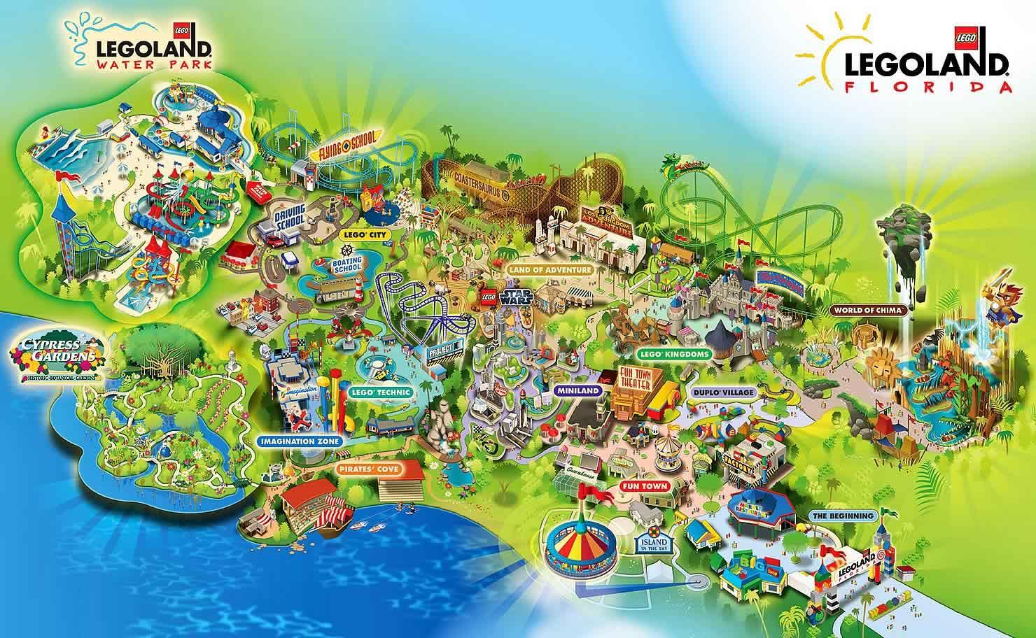 Legoland Usa Florida - Xdata.fr - Florida Theme Parks On A Map