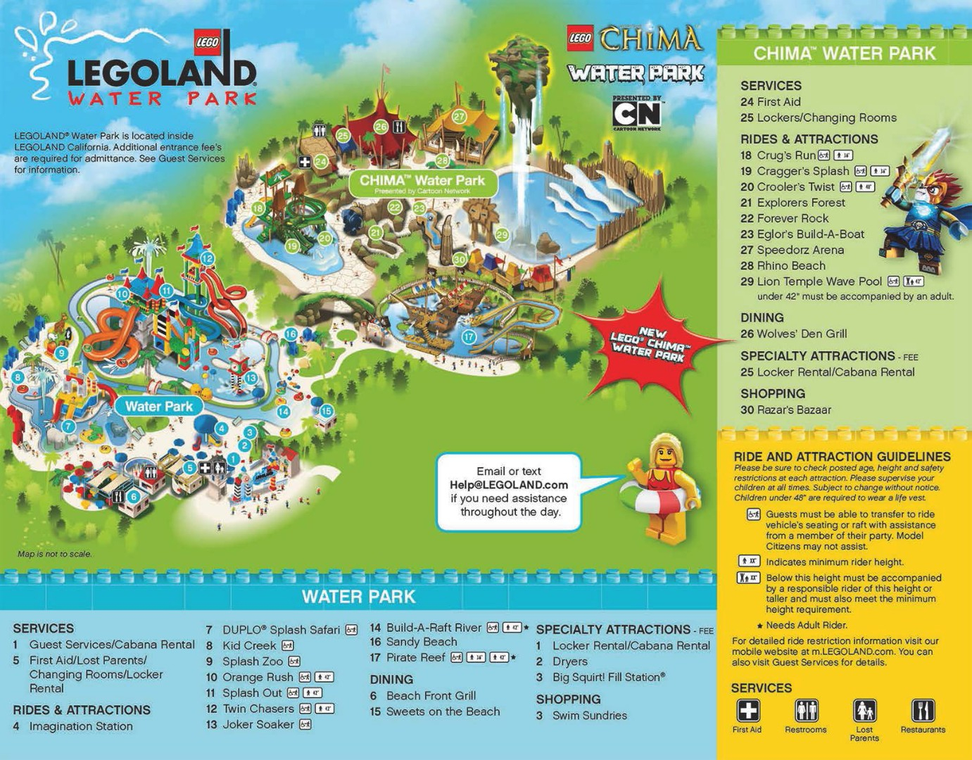 Legoland Water Park Map Large Map With Theme Parks California Map - Legoland California Water Park Map
