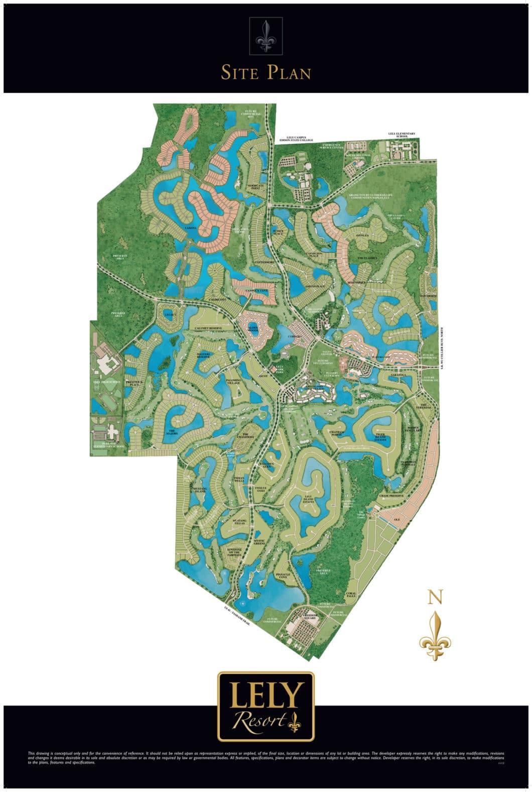Lely Resort Neighborhoods | Find Your Dream Home In Lely Resort - Lely Resort Naples Florida Map