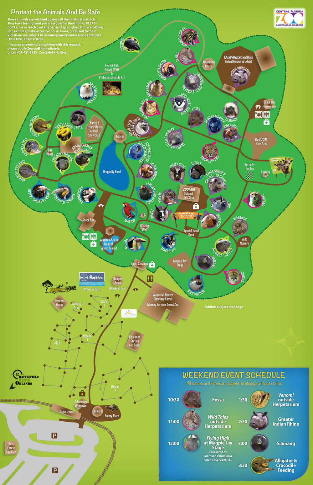 Les Zoos Dans Le Monde - Central Florida Zoo And Botanical Gardens - Florida Botanical Gardens Map