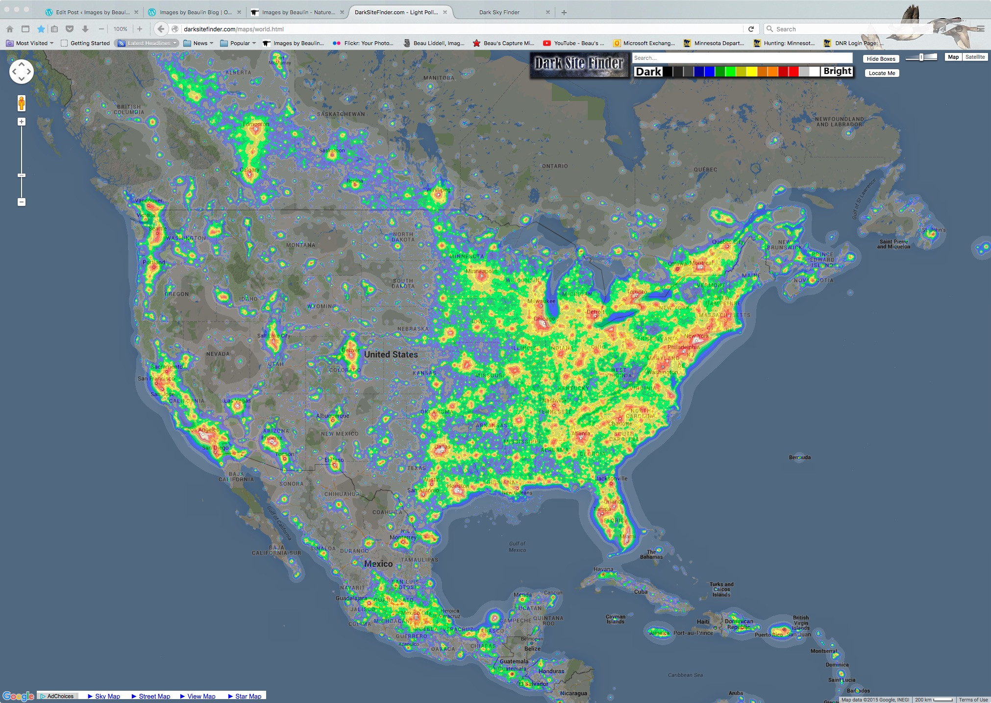 Light Pollution Map California Outline Milky Way - Ettcarworld - Light Pollution Map California