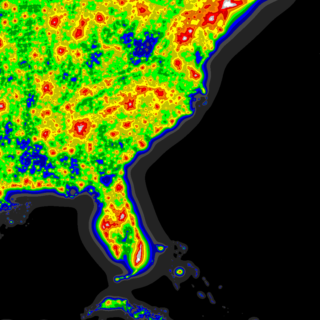 Light Pollution Map - Darksitefinder - Light Pollution Map Florida