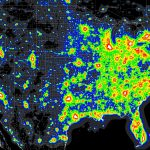 Light Pollution Map   (X Post From Mapporn) : Astronomy   Dark Sky Map California