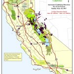 Lightning Map: 301 Lightning Strikes Between Sunday And 11 Am Today   Lightning Map California