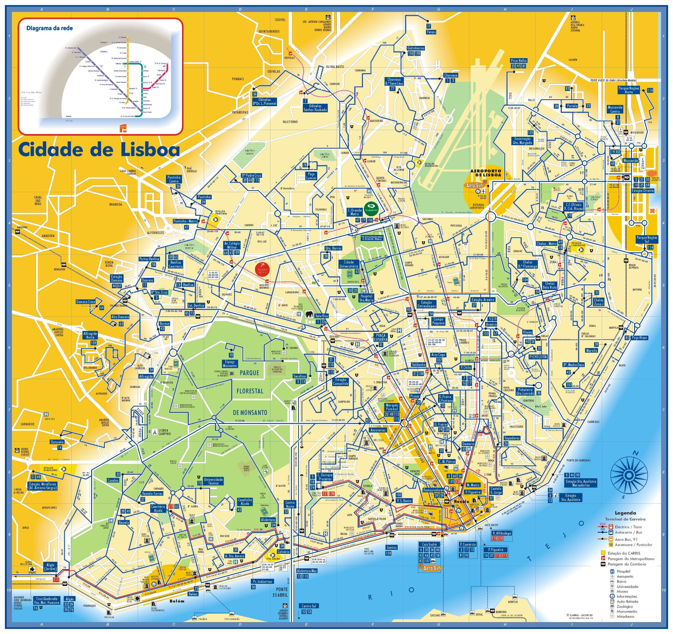 Lisbon Tourist Attractions Map - Aishouzuo - Lisbon Tourist Map Printable