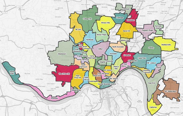 Printable Cincinnati Map