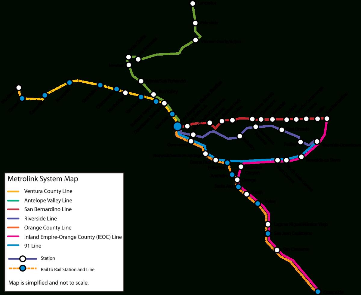 List Of Metrolink (California) Stations - Wikipedia - Southern California Metrolink Map