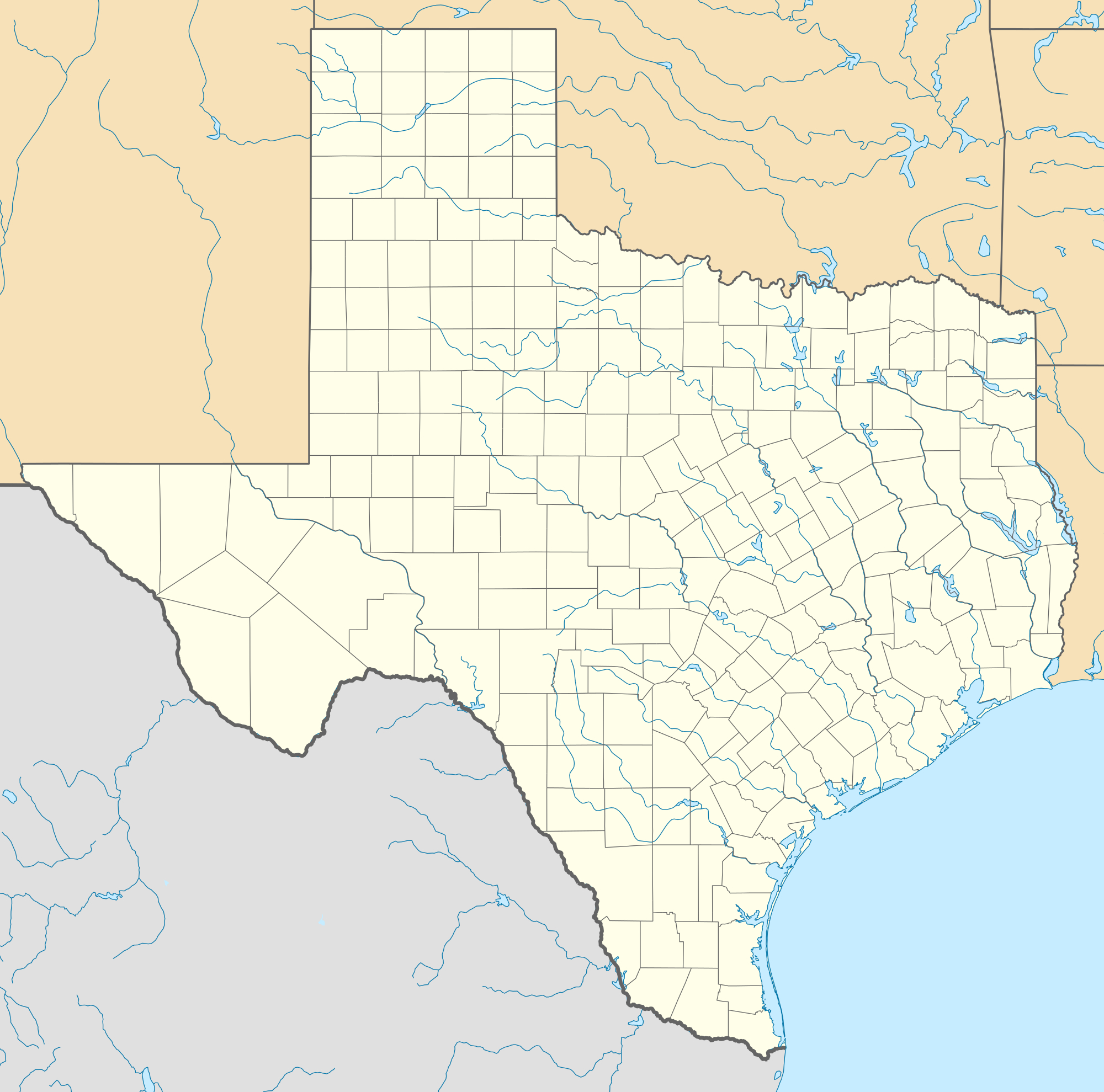 List Of National Historic Landmarks In Texas - Wikipedia - Texas Historical Sites Map