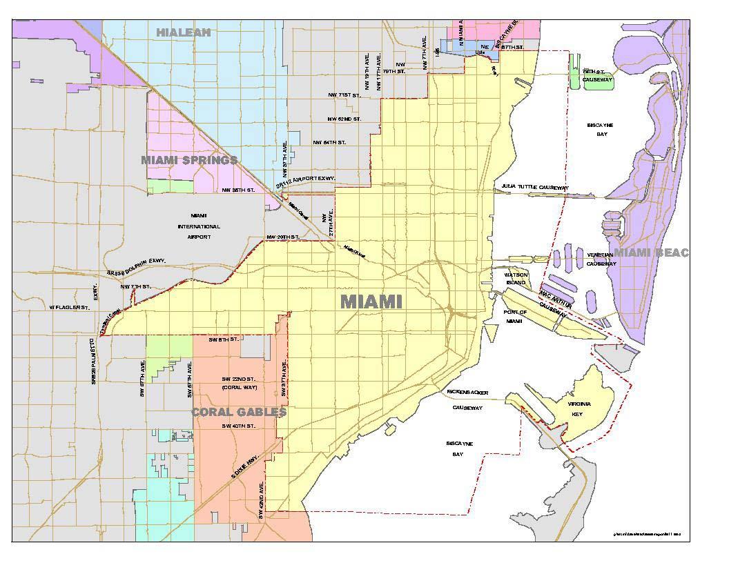 List Of Neighborhoods In Miami - Wikipedia - The Map Of Miami Florida