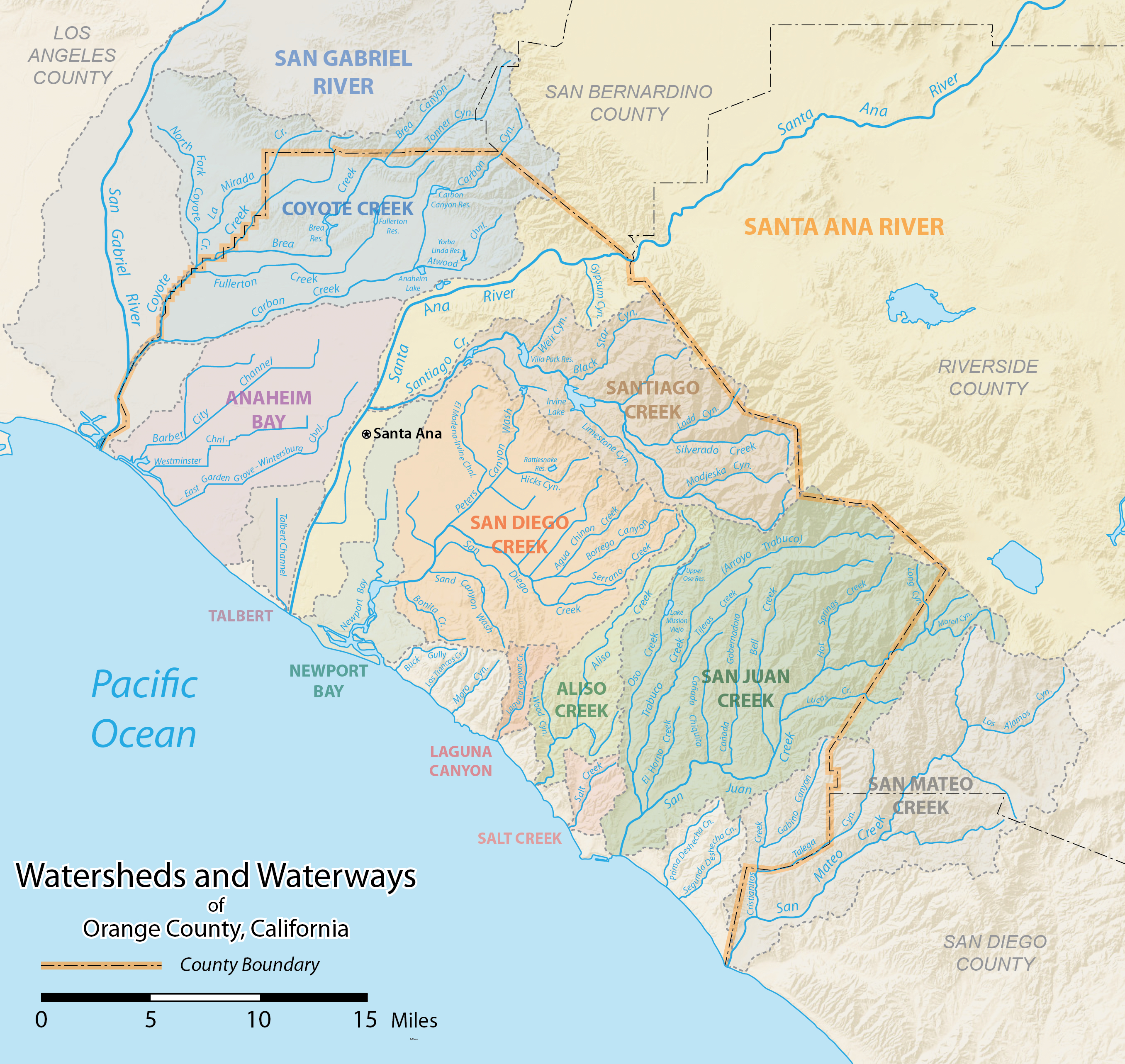 List Of Rivers Of Orange County, California - Wikipedia - California Rivers Map