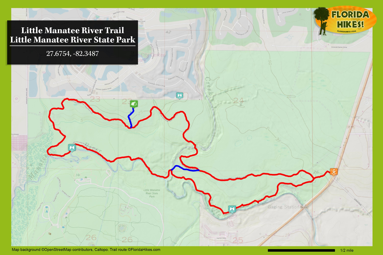 Little Manatee River Trail | Florida Hikes! - Florida Trail Association Maps