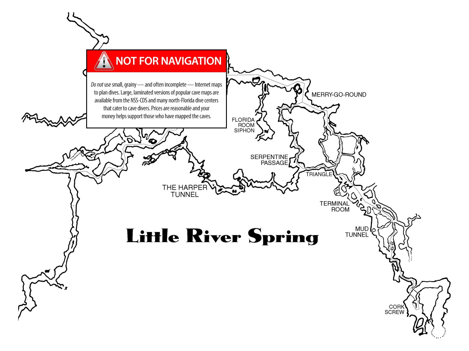 Little River - The Cave Diving Website - Florida Cave Diving Map
