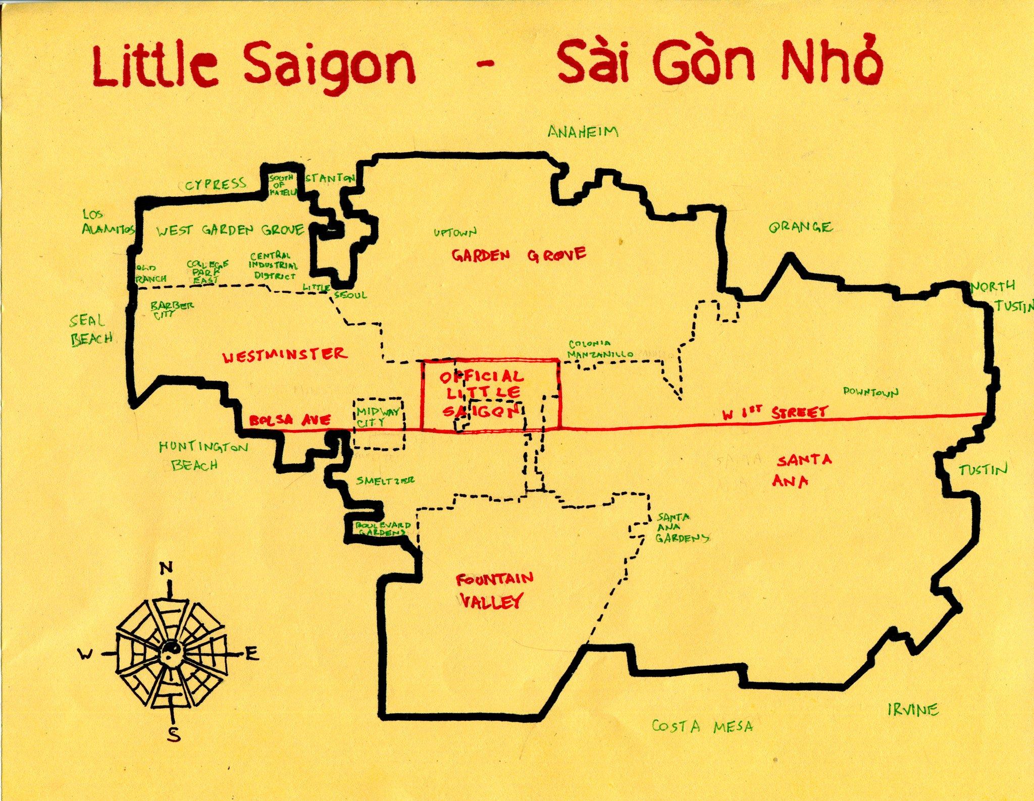Littlesaigon New Of Maps Garden Grove California Map - Klipy - Where Is Garden Grove California On The Map