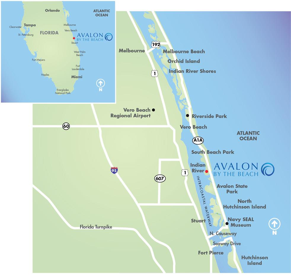 Location | Avalonthe Beach - Hutchinson Beach Florida Map