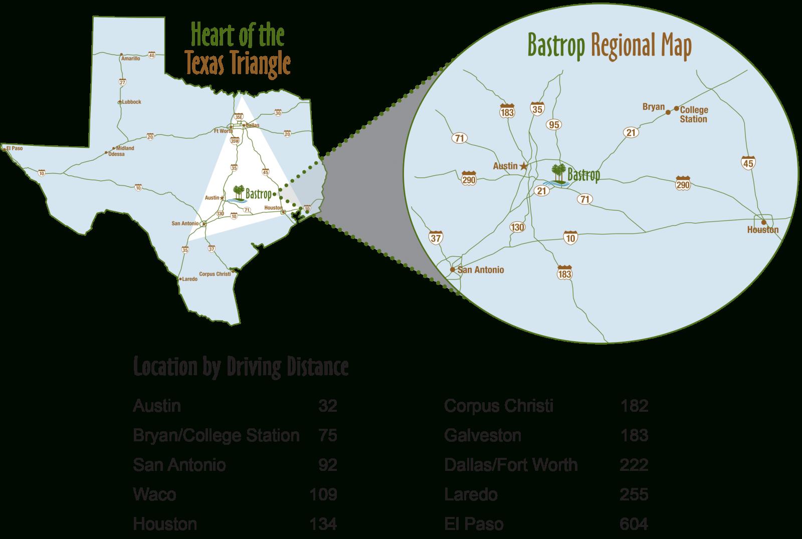 Location | Bastrop Edc - Lost Pines Texas Map